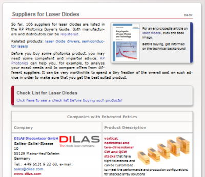 buyer's guide on laser diodes