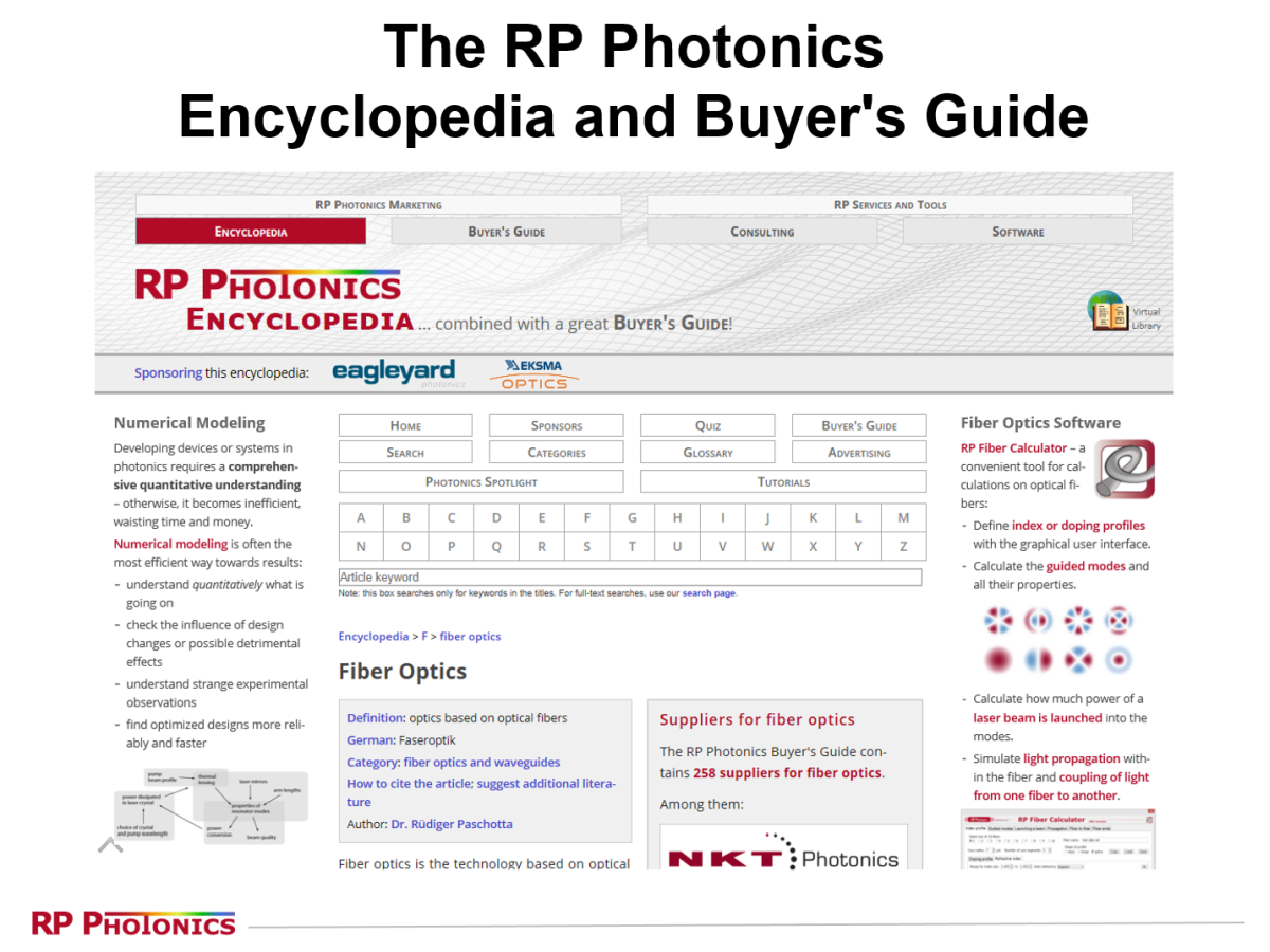 RP Photonics website
