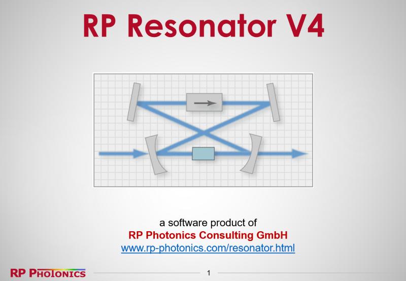 The software RP Resonator for advanced laser resonator